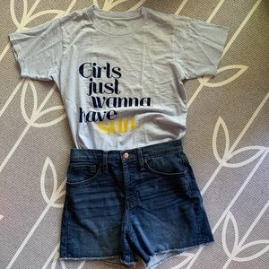 J. Crew // NWT Girls Just Wanna Have Sun T-Shirt